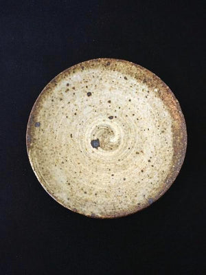 Textured speckle Japanese ceramic plate from Zenbu Tours
