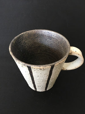 Handmade Silver Lining ceramic cup from Japan  - precious pottery at Zenbu Home