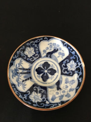 Antique Bamboo & Flowers Plate