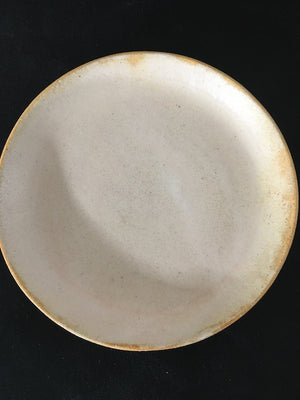 Moon shadow handmade Japanese ceramic plate at Zenbu Home