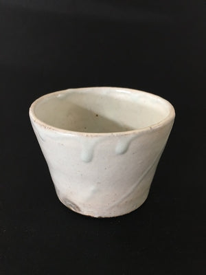 simple but stylish, handmade Japanese Ice Glaze ceramic cup