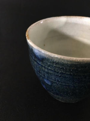 cobalt glazed handmade Japanese ceramic cup at zenbu home