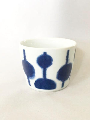 Blue and White patterned Japanese ceramic cup at Zenbu Home