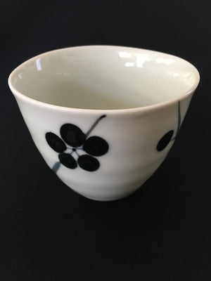 Blue plum Japanese ceramic cup