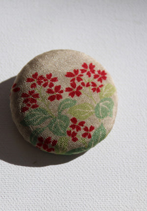 In the name of mottainai - to waste not -is this handmade, gorgeous floral vintage silk kimono brooch