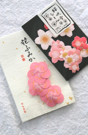 sakura and ume, cherry and plum blossom crafting stickers from Japan