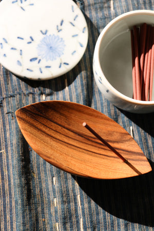Beautifully designed, hand-carved wooden incense burner looks great in traditional or contemporary spaces