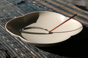 Sleek and slender stainless steel Japanese incense burner from Kyoto