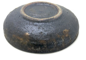 Chocolate bronzed glazed stoneware dish by a talented Japanese ceramic artist at Zenbu Home