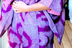 Buy this absolutely gorgeous, vintage, handmade shibori dyed silk kimono at Zenbu Home