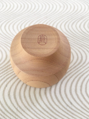 Beautifully hand-crafted Japanese wooden sake cup from Zenbu Home