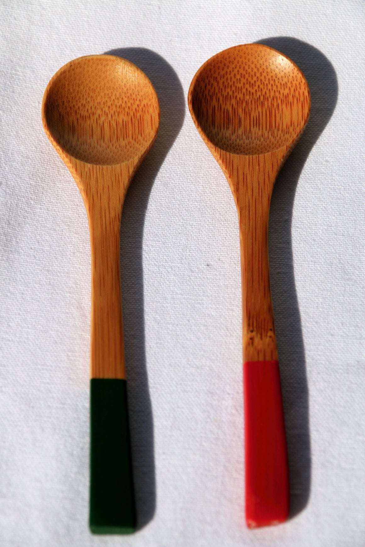 Lacquer-tipped Handcrafted Spoon Duo