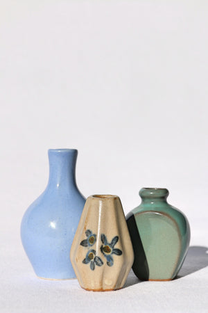Zenbu Home 'Shimai' Tiny Vase Trio mini Japanese ceramics Japan design decor