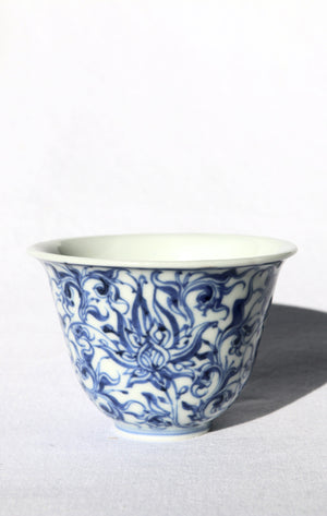 Zenbu Home 'Futari Tomodachi' Two Friends Tea Cups Fine Blue White Flowers chawan Japanese design Buy