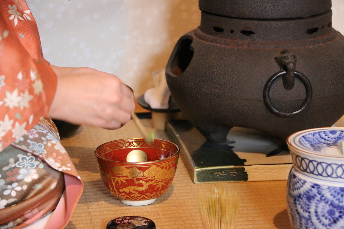 Tea ceremony and wagashi workshop event at Zenbu Tours