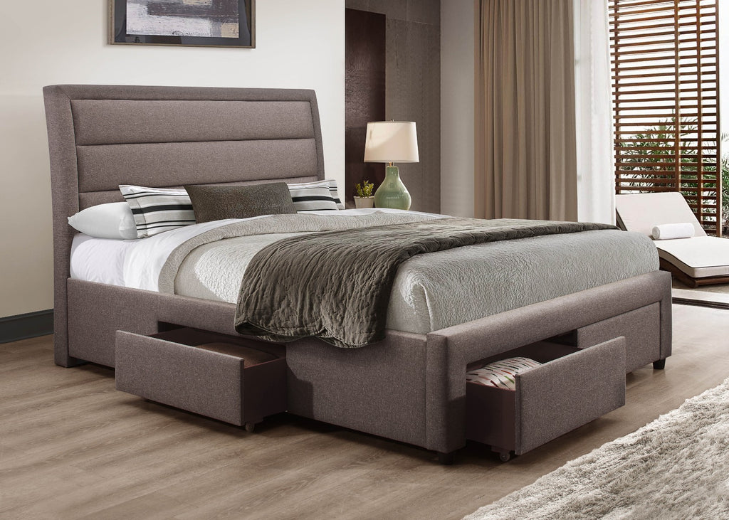 Megan Bedframe Queen  Light Grey