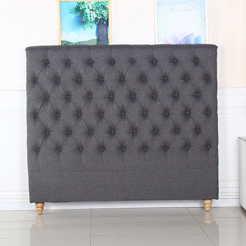 Shay French Headboard Double Charcoal