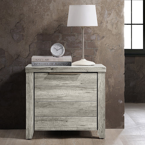 Alek bedside Table White Ash