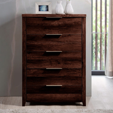 Alek 5 Drawer Tallboy Wenge