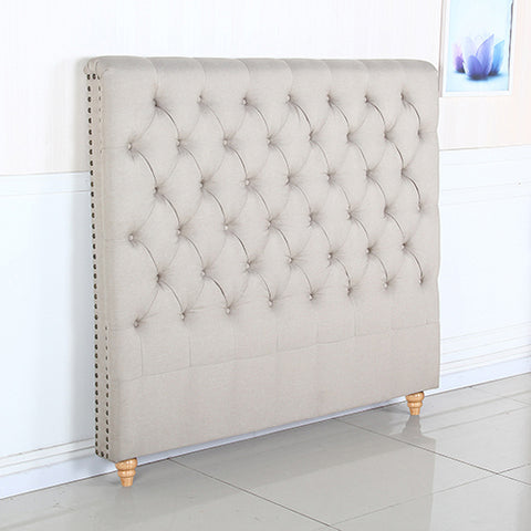 Shay French Headboard Double Beige