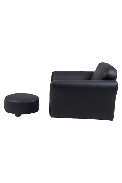 Kids Rocking Chair and Ottoman  Black