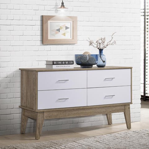 Nordic Buffet Drawers  White and Oak