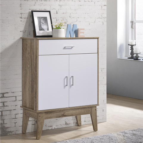 Nordic Cabinet  White and Oak