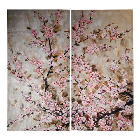 Pink Blossom Wall Art Set of 2