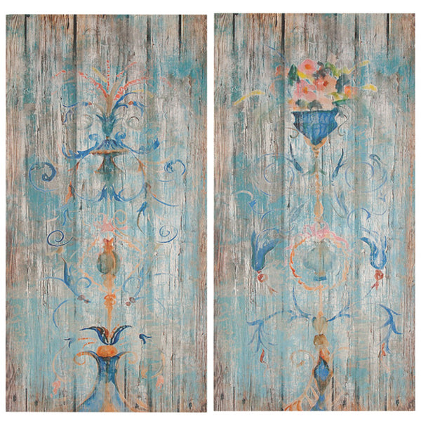 Set of 2 Muted Parisian Wood Wall Art - Free Shipping - Darkhorse Creations