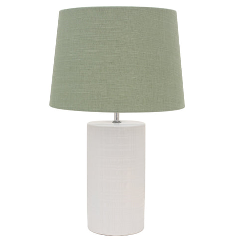 2x Inverness Bedside Lamp wandGreen Shade
