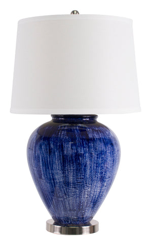 Santorini Table Lamp Dark Blue  White