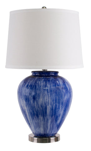 Santorini Table Lamp Light Blue  White