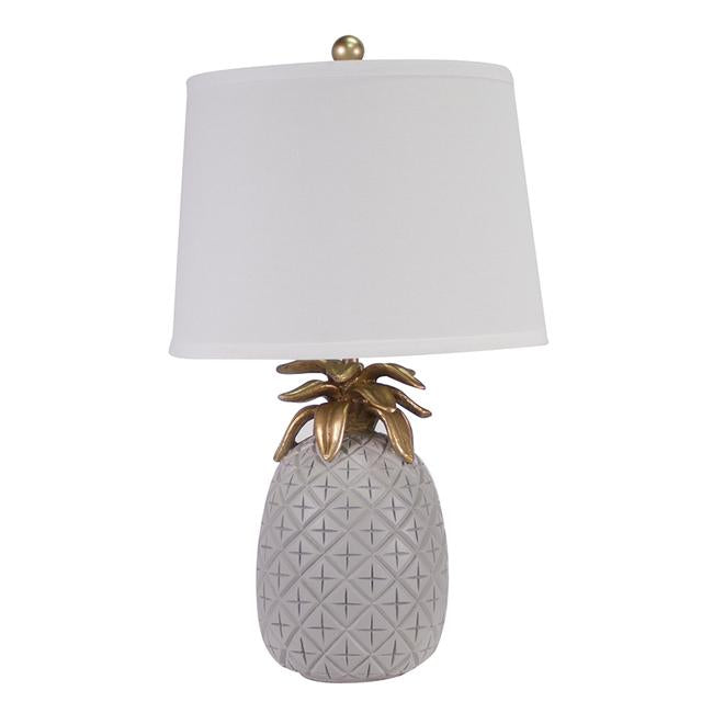 Pineapple Table Lamp Pale Grey