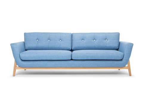 Modern 3 Seater Lounge (Blue) - FREE SHIPPING AUSTRALIA WIDE - Darkhorse Creations