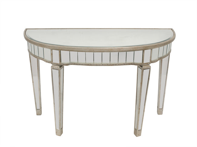 Florence Mirrored Half Circle Console Table - Free Shipping - Darkhorse Creations