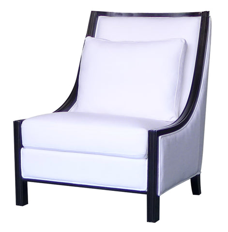 Cayman Accent Chair White Black