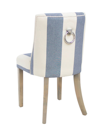 Patrice Dining Chair Blue Stripe