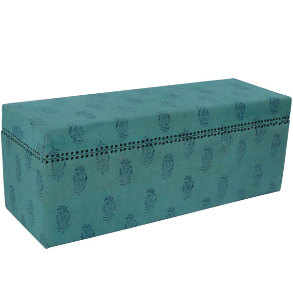 Aqua Dreaming Organic Cotton Storage Ottoman - Free Shipping - Darkhorse Creations