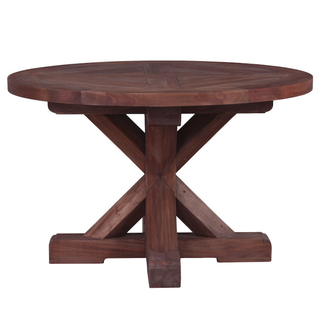 Eliza Mahogany Dining Table Round Natural