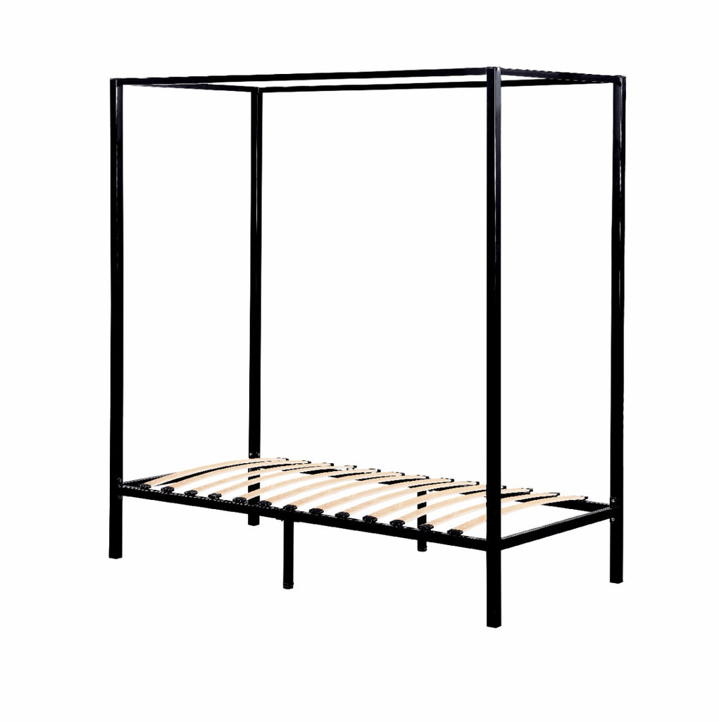 Parkland Four Poster Bed Frame Single Black