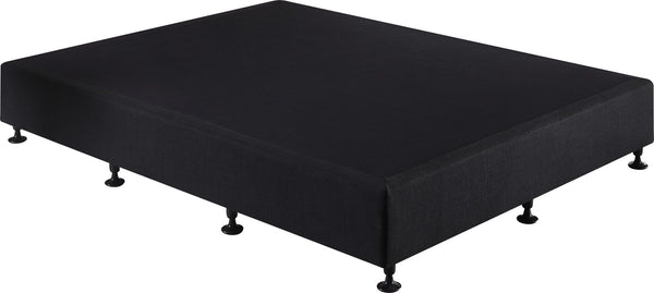 Palermo Queen Ensemble Bed Base Midnight Black Linen Fabric