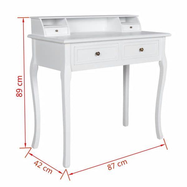 Classicaly French Console Table 2 draw White