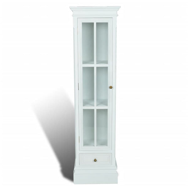 Mila Shabby Chic Shelf Unit WhiteandGlass