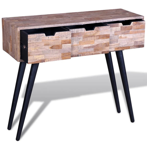 Reclaimed Teak Console Table