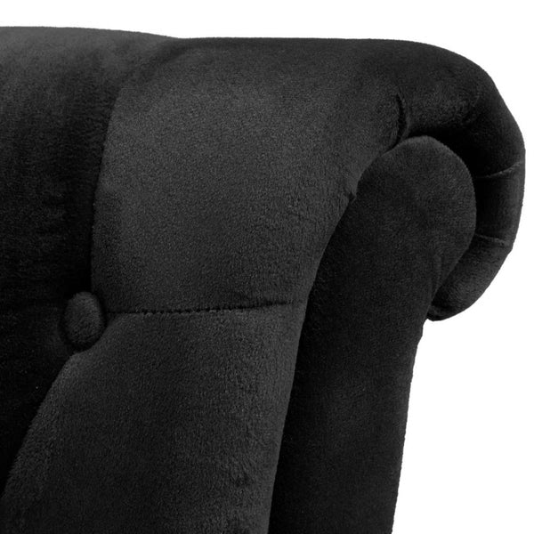 Monique High Back Tufted Feature Chair Black