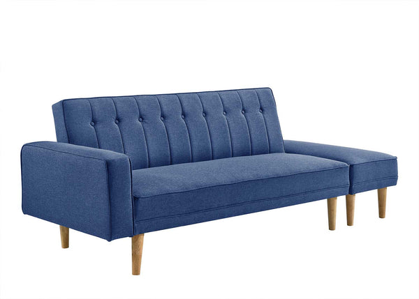 Atlantis 3 Seater Sofa Bed with Ottoman Ocean Blue