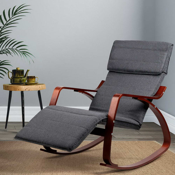 Nomad Rocking Armchair grey