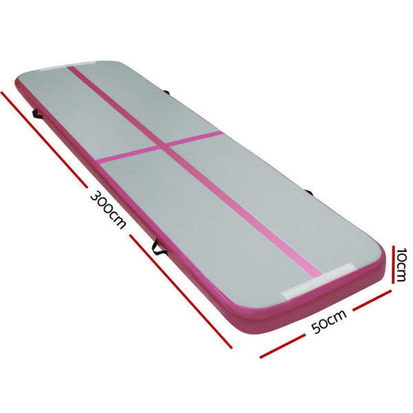 Everfit 3m x 1m  Mat Gymnastic Tumbling Pink and Grey