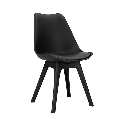 Set of 4 Inspire Replica Eames Dining Chairs Black