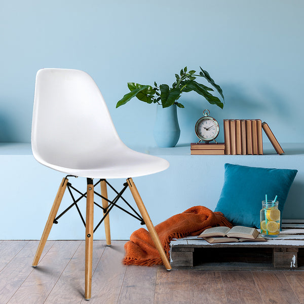 Set of 2 Replica Eames Chairs (White) - Free Shipping - Darkhorse Creations